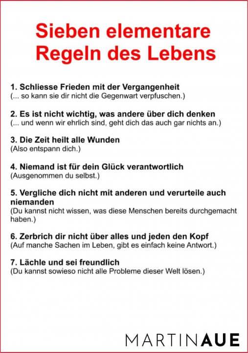 Sieben Regeln